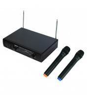 Wireless Microphone with 2 Handheld Mics Soundsation WF-V21HHA
