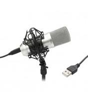 TIE USB kondensaator mikrofon - hõbedane
