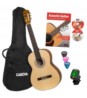 Cascha Student Series 4/4 Classical Guitar Bundle HH 2138 EN
