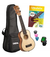 Sopran ukulele komplekt Cascha HH 2149 EN