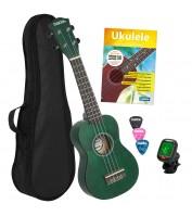 Soprano Ukulele bundle green Cascha HH 3972 EN