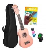 Soprano Ukulele bundle Pink Cascha HH 3976 EN