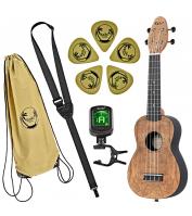 Left-handed sopran ukulele set Keiki K3-SPM-L