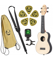 Left-handed soprano ukulele set Keiki K2-MAP-L