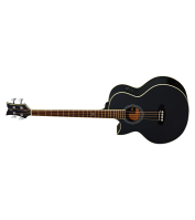 Left-handed Acoustic Bass Guitar Ortega D1-4LE-BK