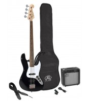 SX SB1SK-BK electric bass pack