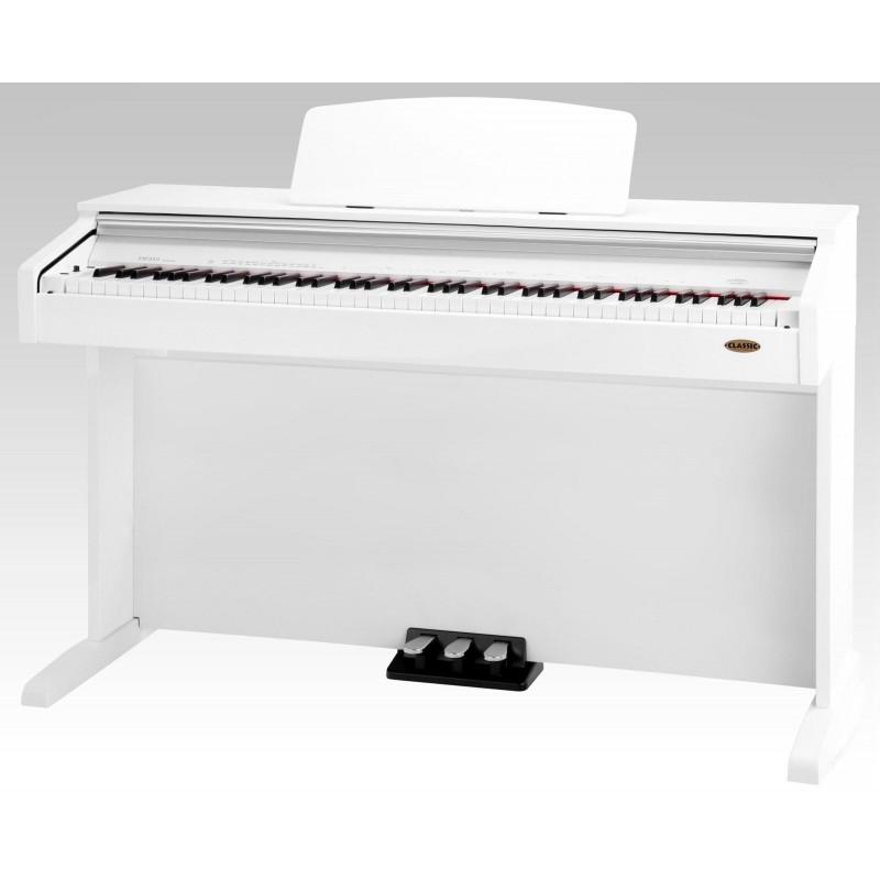 Classic Cantabile DP-210 RH digital piano white high gloss
