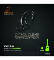 Bariton ukulele keeled Ortega UWNY-4-BA