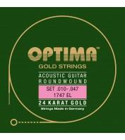 Akustilise kitarri keeled Optima 1747EL .010-.047