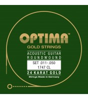 String Set for Acoustic Guitar Optima 1747CL .011-.050