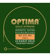 String Set for Acoustic Guitar Optima 1747L .012-.052