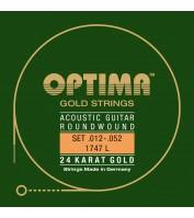 Akustilise kitarri keeled Optima 1747L .012-.052