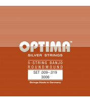 OPTIMA 5-keelse Banjo keeled SILVER STRINGS